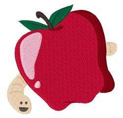 Apple Worm embroidery design