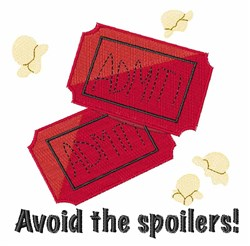 Avoid the Spoilers embroidery design