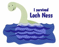 Loch Ness embroidery design