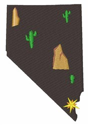 Nevada Desert embroidery design
