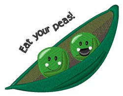 Eat Your Peas embroidery design