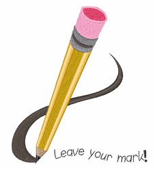 Leave Your Mark embroidery design