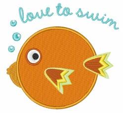 Love To Swim embroidery design