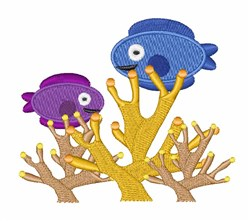Fish Coral embroidery design