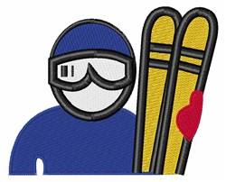 Ski Man embroidery design