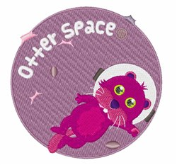 Otter Space embroidery design