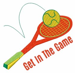 Get in the Game embroidery design