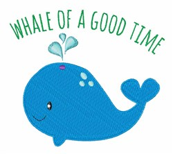 Whale Time embroidery design