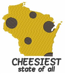Cheesiest State embroidery design