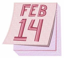 Feb 14 Calendar embroidery design