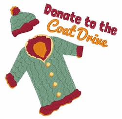 Coat Drive embroidery design