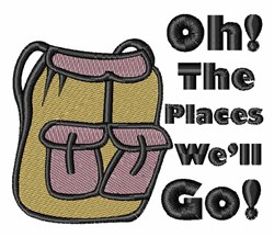 The Places! embroidery design