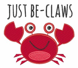 Just Be-Claws embroidery design
