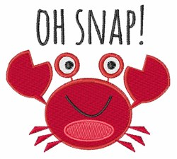 Oh Snap! embroidery design