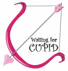 Waiting for Cupid embroidery design