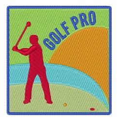Golf Pro embroidery design