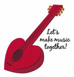 Make Music embroidery design