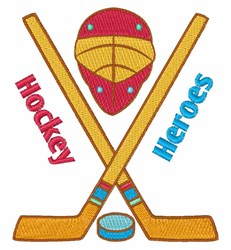 Hockey Heroes embroidery design