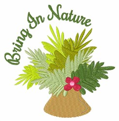 Bring In Nature embroidery design