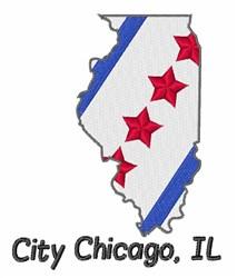 City Chicago IL embroidery design