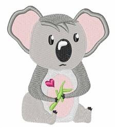Koala Valentine embroidery design