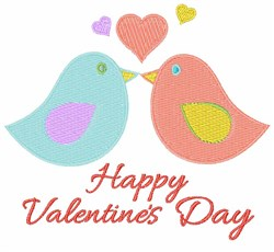 Valentines Day Birds embroidery design
