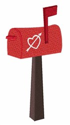 Heart Mailbox embroidery design