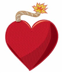 Exploding Heart embroidery design