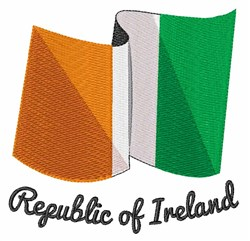 Republic Of Ireland embroidery design