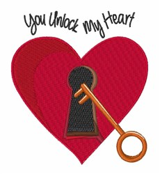 Unlock My Heart embroidery design