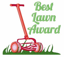 Best Lawn Award embroidery design