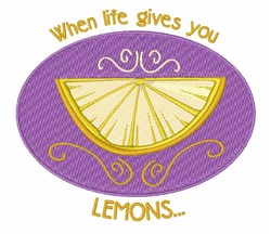 Life Gives Lemons embroidery design