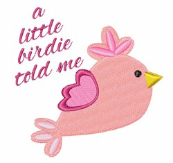 Little Birdie embroidery design