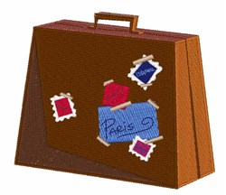 Suitcase embroidery design