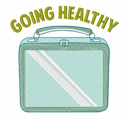 Going Healthy embroidery design