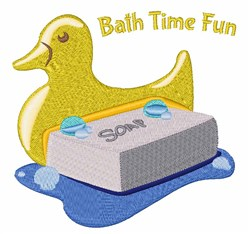 Bath Time Fun embroidery design