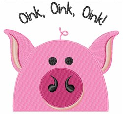 Oink Oink embroidery design