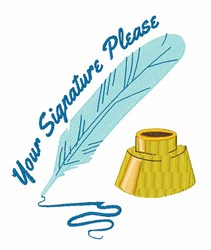 Your Signature embroidery design