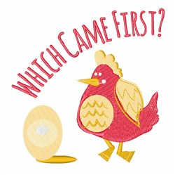 Which Came First? embroidery design