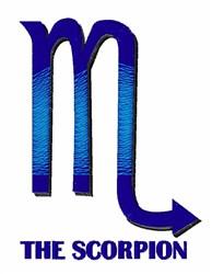 The Scorpion embroidery design