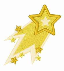 Shooting Star embroidery design