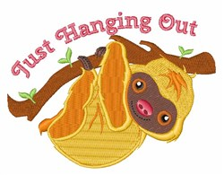Hanging Out embroidery design