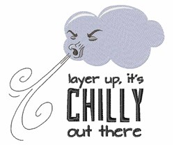 Its Chilly embroidery design