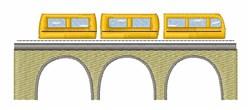 Train On Bridge embroidery design