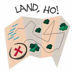 Land Ho embroidery design