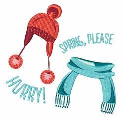 Spring Hurry embroidery design