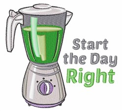 Start Day Right embroidery design