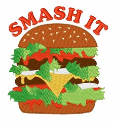 Smash It embroidery design