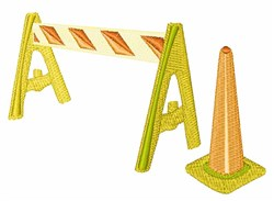 Road Caution embroidery design