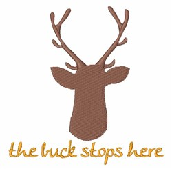 Buck Stops Here embroidery design